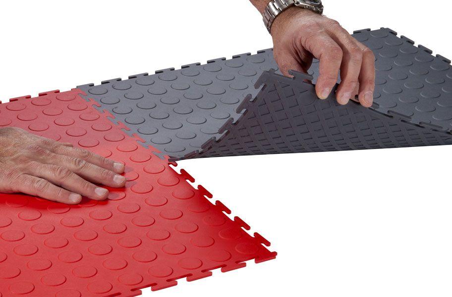 6 5 Mm Coin Flex Tiles Interlocking Pvc Garage Tiles Garage Tile Interlocking Rubber Floor Rubber Floor Tiles