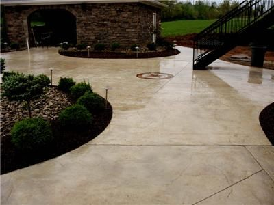 Beige Colored Patio, Seamless Stamped Patio Stamped Concrete Hancock Family  Homes Louisville, ...