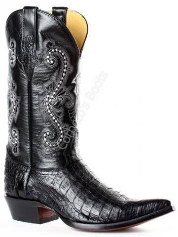 27494fafd5 Bota cowboy Go West para hombre piel cocodrilo color negro