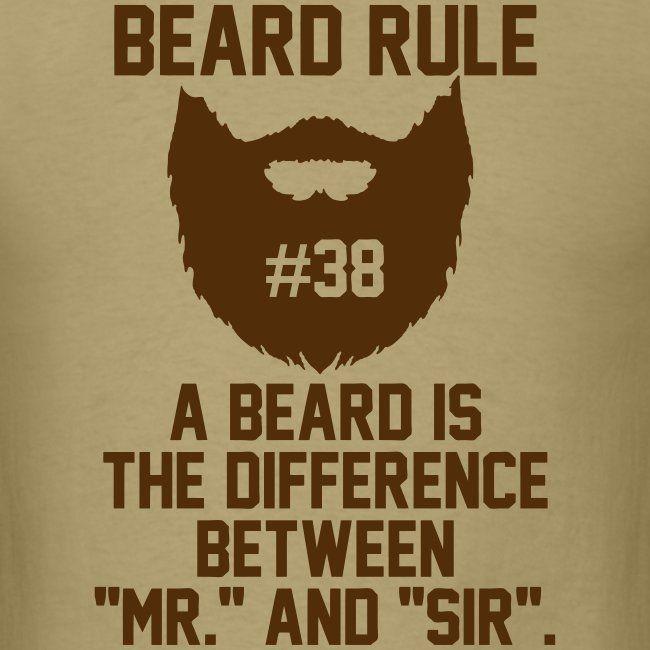 Beard Rules - Mens T-Shirt   Beard Rules