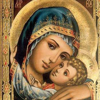 Ikoni Neitsyt Maria ja Jeesus