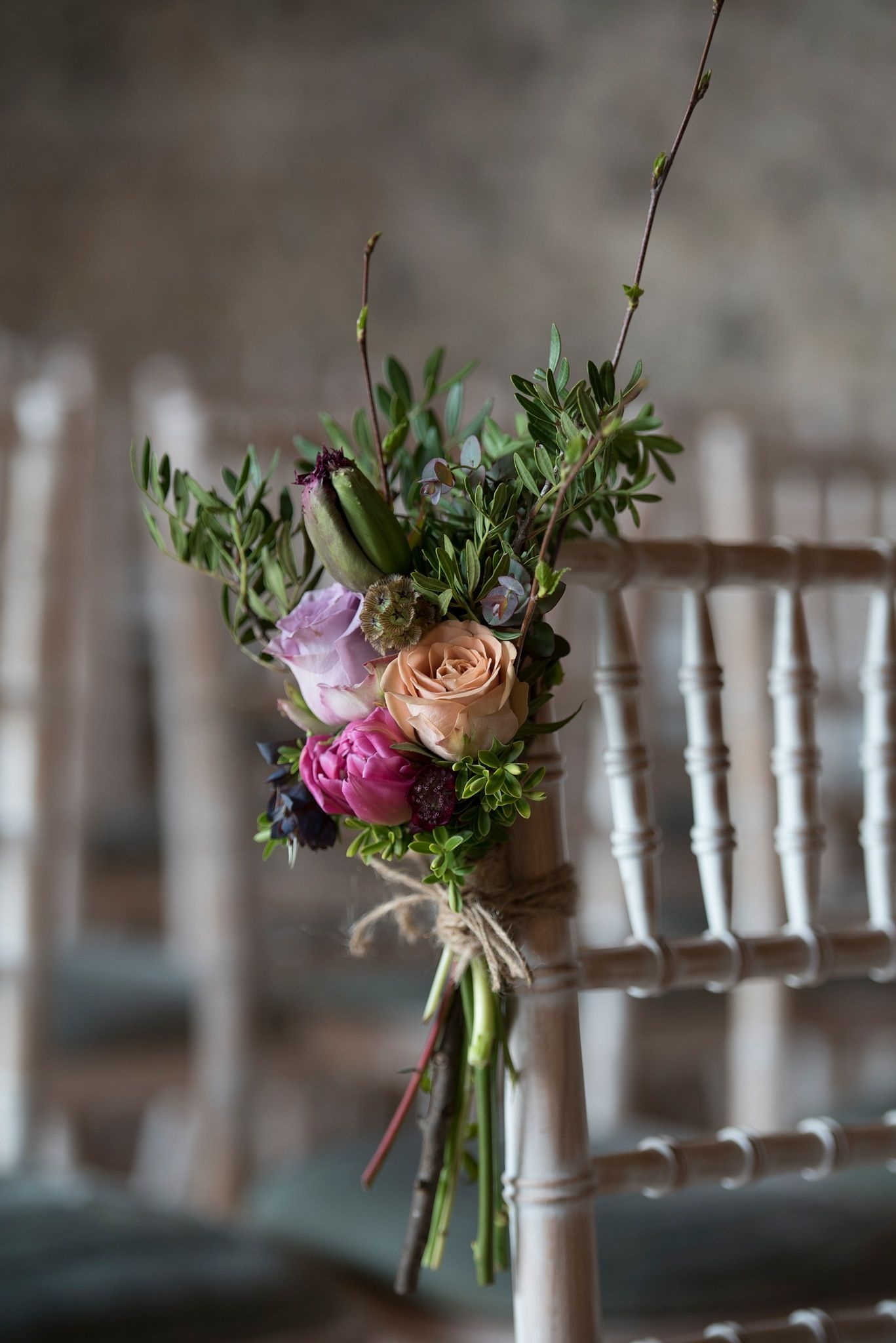 Wedding ceremony chair - Wedding Ceremony Chair Flowers Image Created By Simon Buck Photography