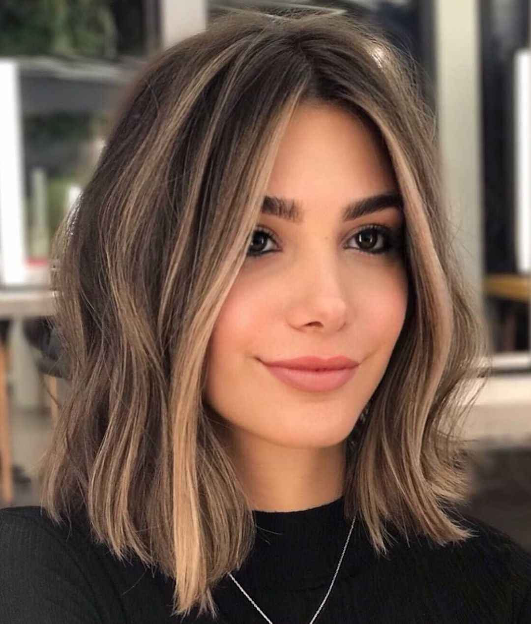 Behindthechair Com S Instagram Photo Lighter Pieces Look Lighter Next To Dark In 2020 Hair Styles Brown Hair With Blonde Highlights Highlights Brown Hair Short
