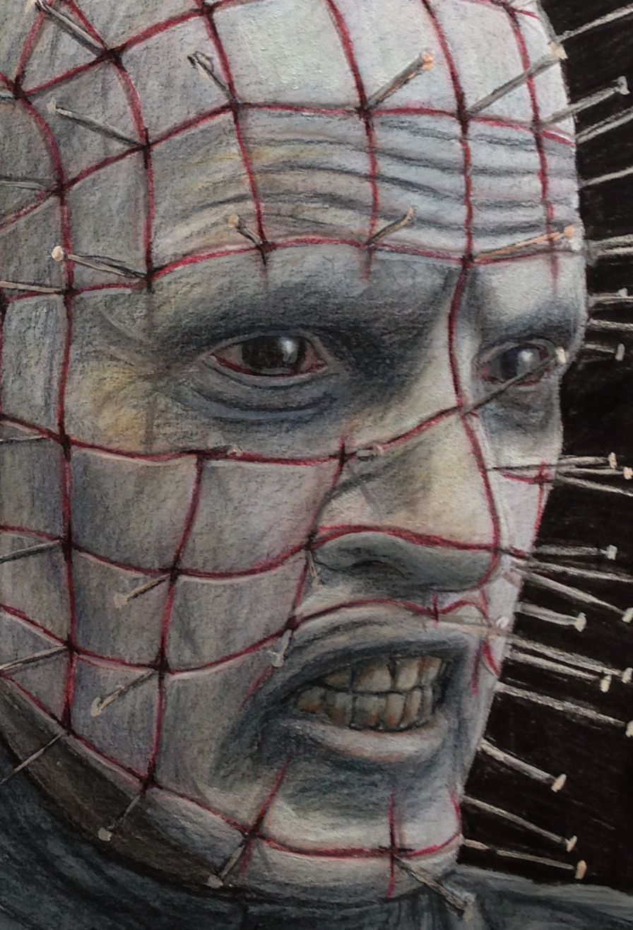 Close up of my pinhead color pencil drawing by atomiccircus deviantart com on deviantart