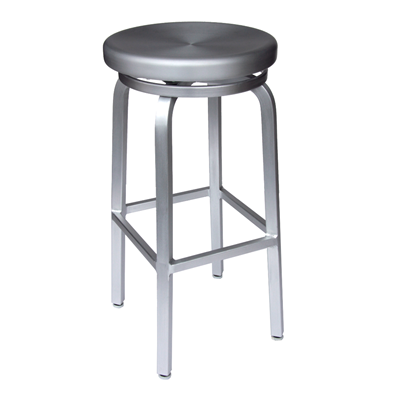$128 each - Brushed Aluminum Navy Backless Bar Stool - Counter ...