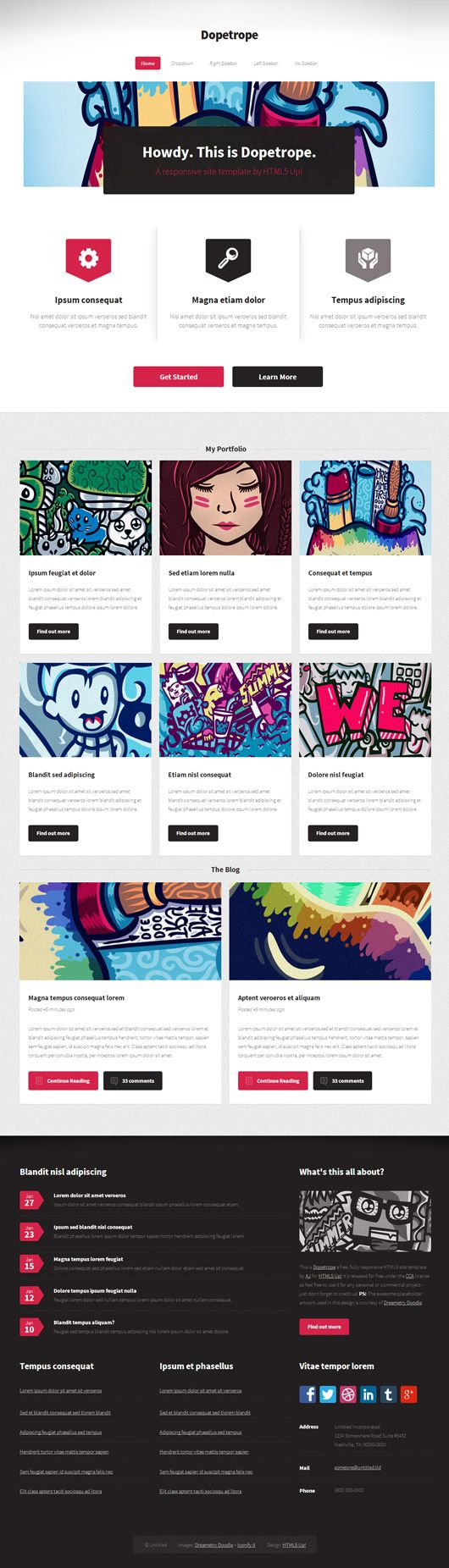 Free Responsive PSD Website Templates Webdesign Resourses - Full responsive website templates
