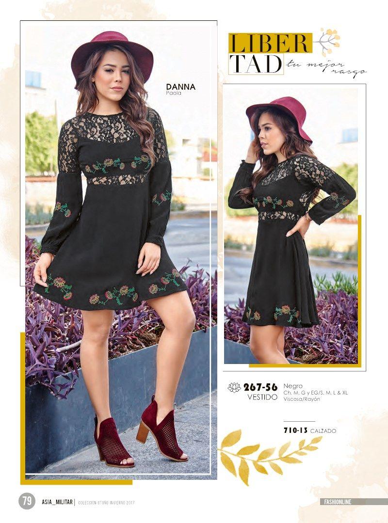 6e6a8ac17 Vestido negro corto de manga larga para mujer. Juvenil vestido de moda con  Danna Paola estrella Cklass