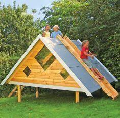 Spielhaus Bauen- Ein Haus Für Kinder | Holzarbeiten & Möbel ... Garten Kinder Kindermoebel Spielecken Diy