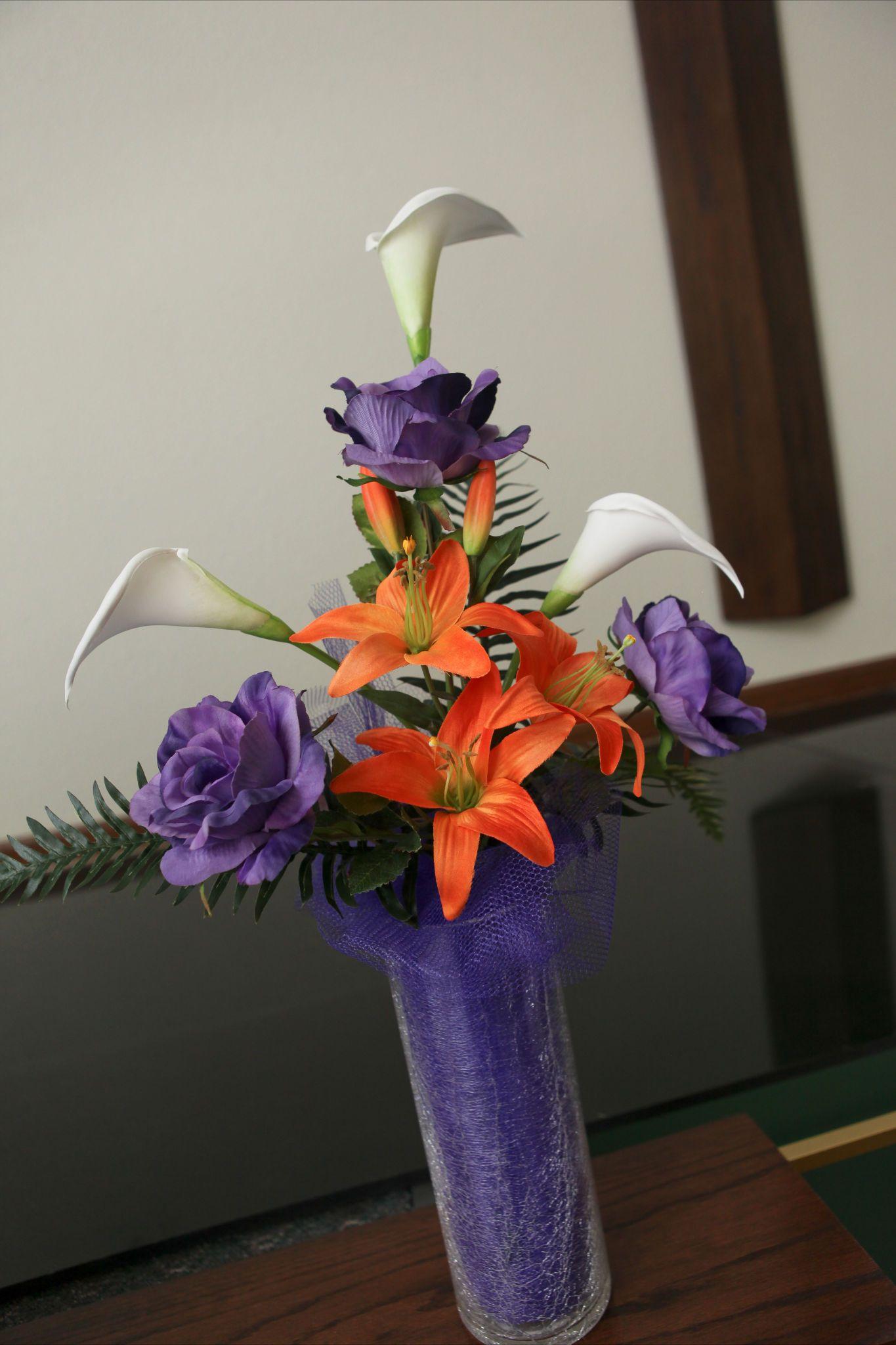 Alter arrangement orange tiger lily