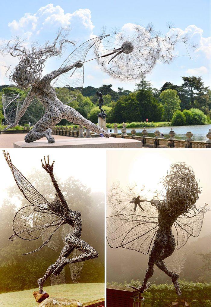 esculturas que juegan con la ley de gravedad