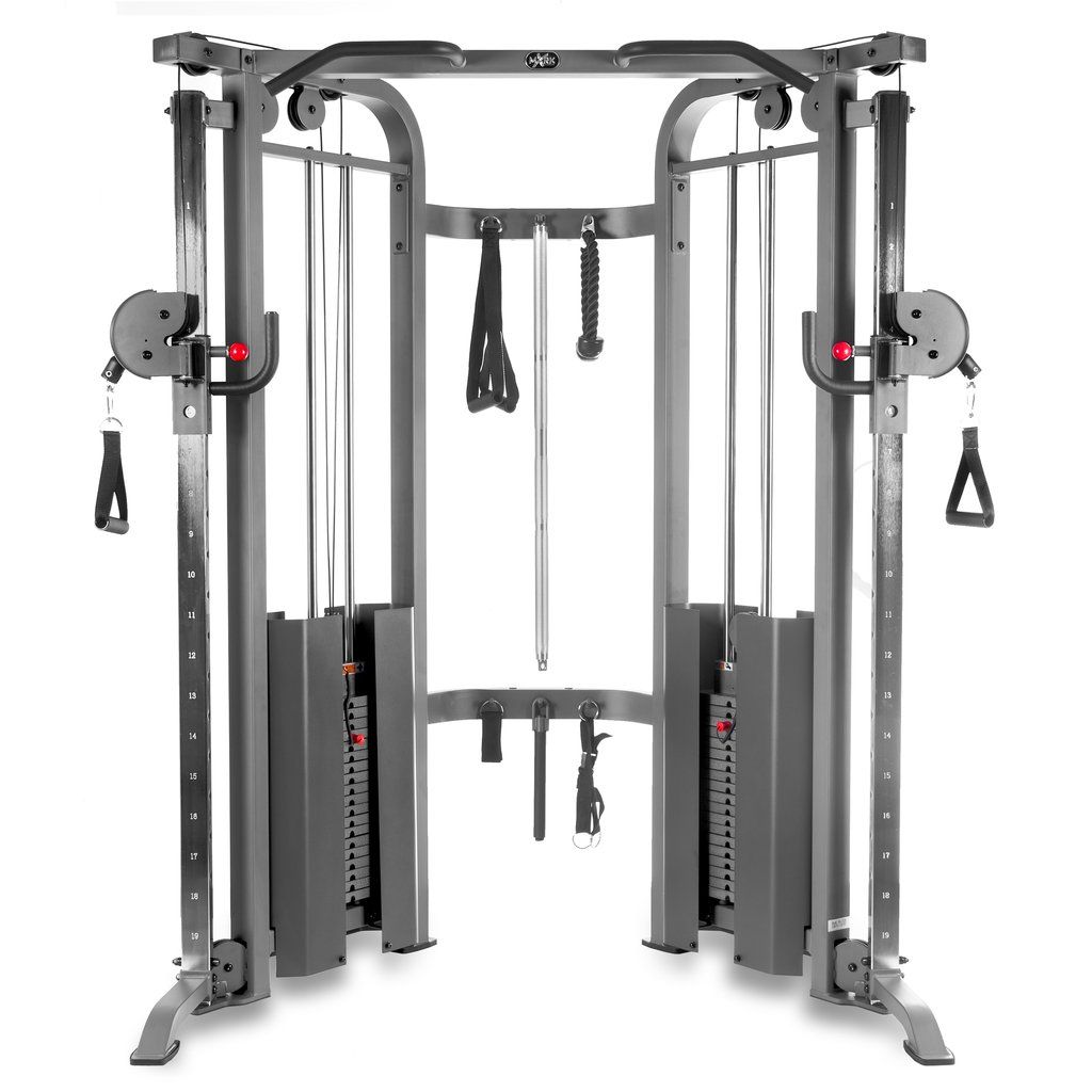 Xmark Functional Trainer Cable Machine With Dual 200 Lb Weight Stacks Xm 7626 1 No Equipment Workout At Home Gym Cable Machine