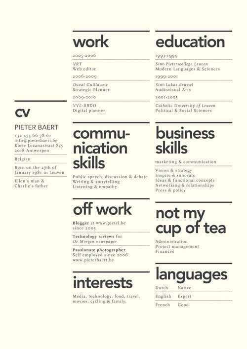 27 Beautiful Résumé Designs You\u0027ll Want To Steal Graphic Arts