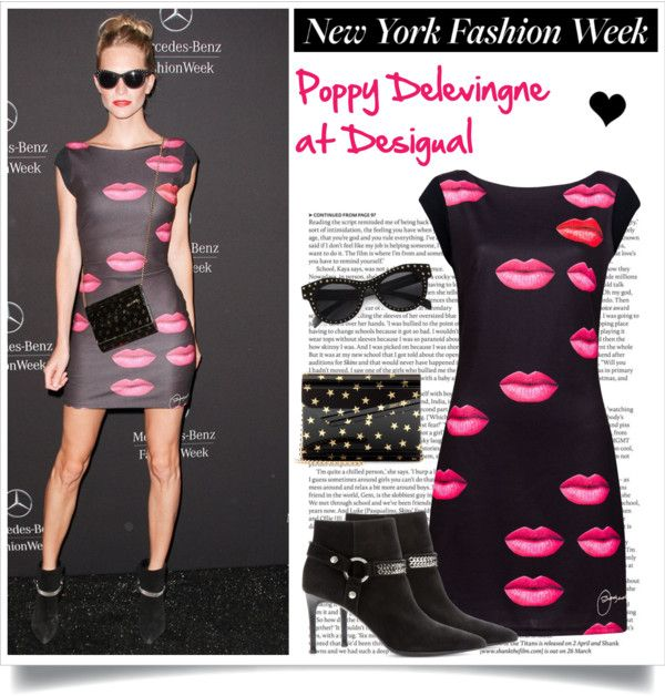 """NYFW: Poppy Delevingne"" by elske88 ❤ liked on Polyvore"