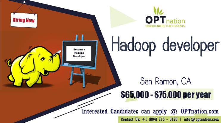 We're Hiring Hadoop developer in San Ramon, CA. Build your