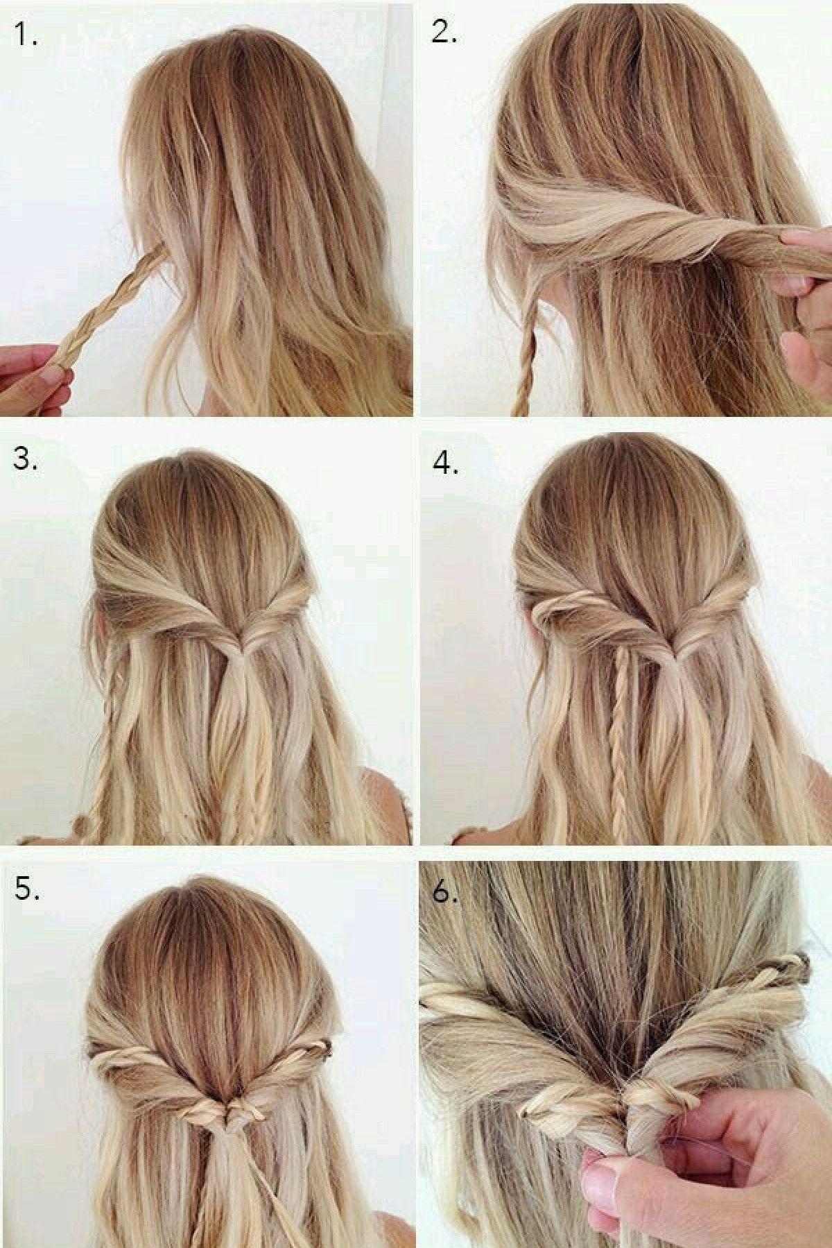 Причёски на средние распущенные волосы на каждый день своими руками фото 529