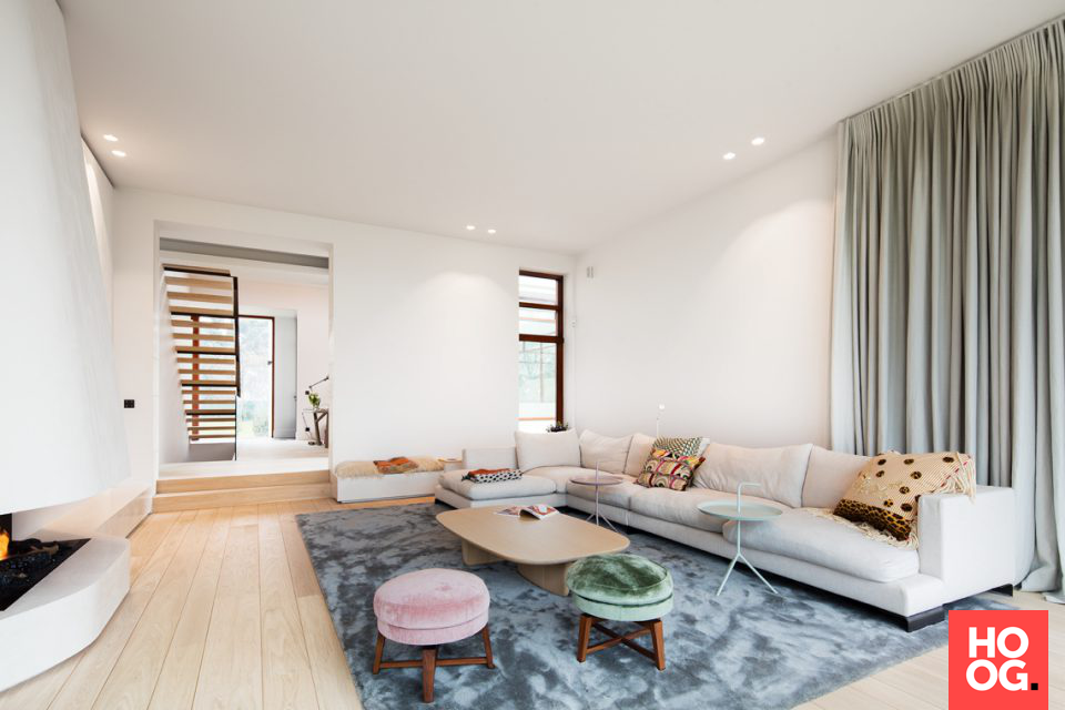 bankstel in modern interieur | woonkamer ideeën | living room decor ...