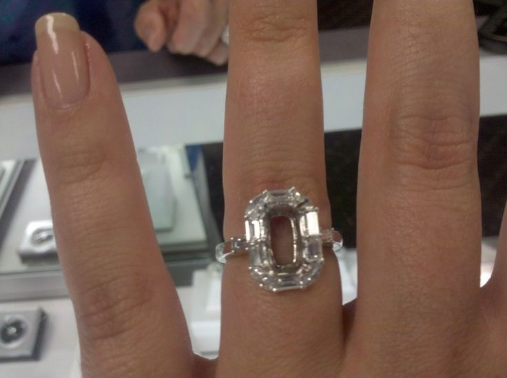 Unique Engagement Ring Setting For A Skinny Emerald Cut Diamond