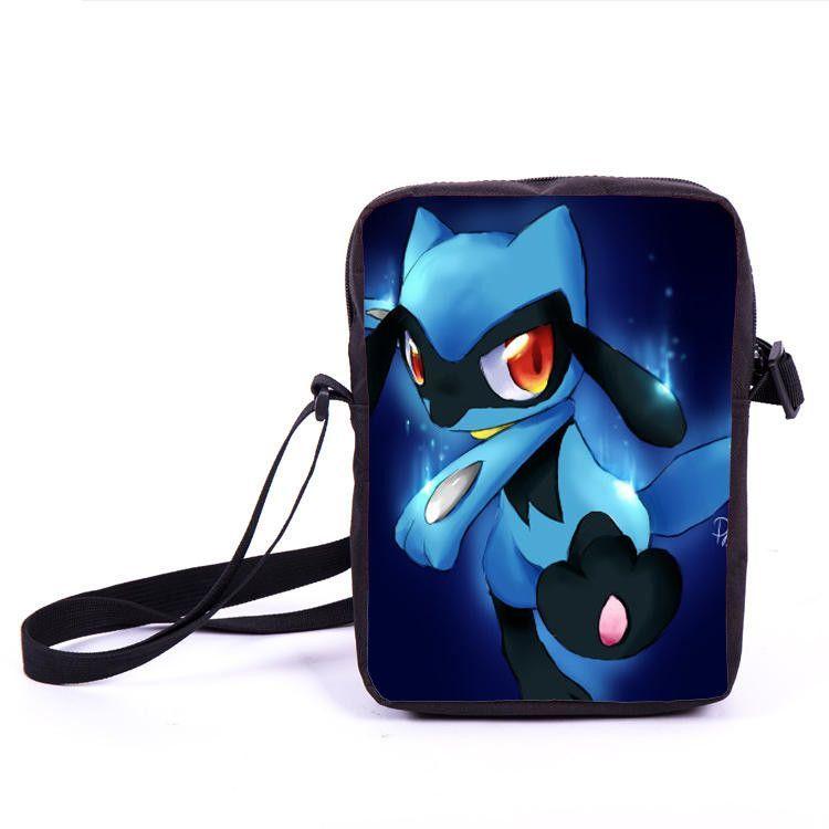 Anime pokemon pikacun mario dragon ball mini messenger bag