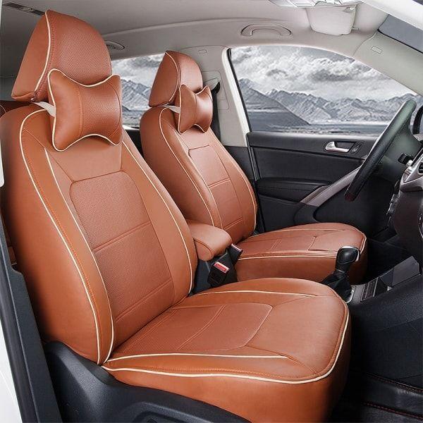 Dark Tan Car Interior Upholstery Carinterior Autoupholstery
