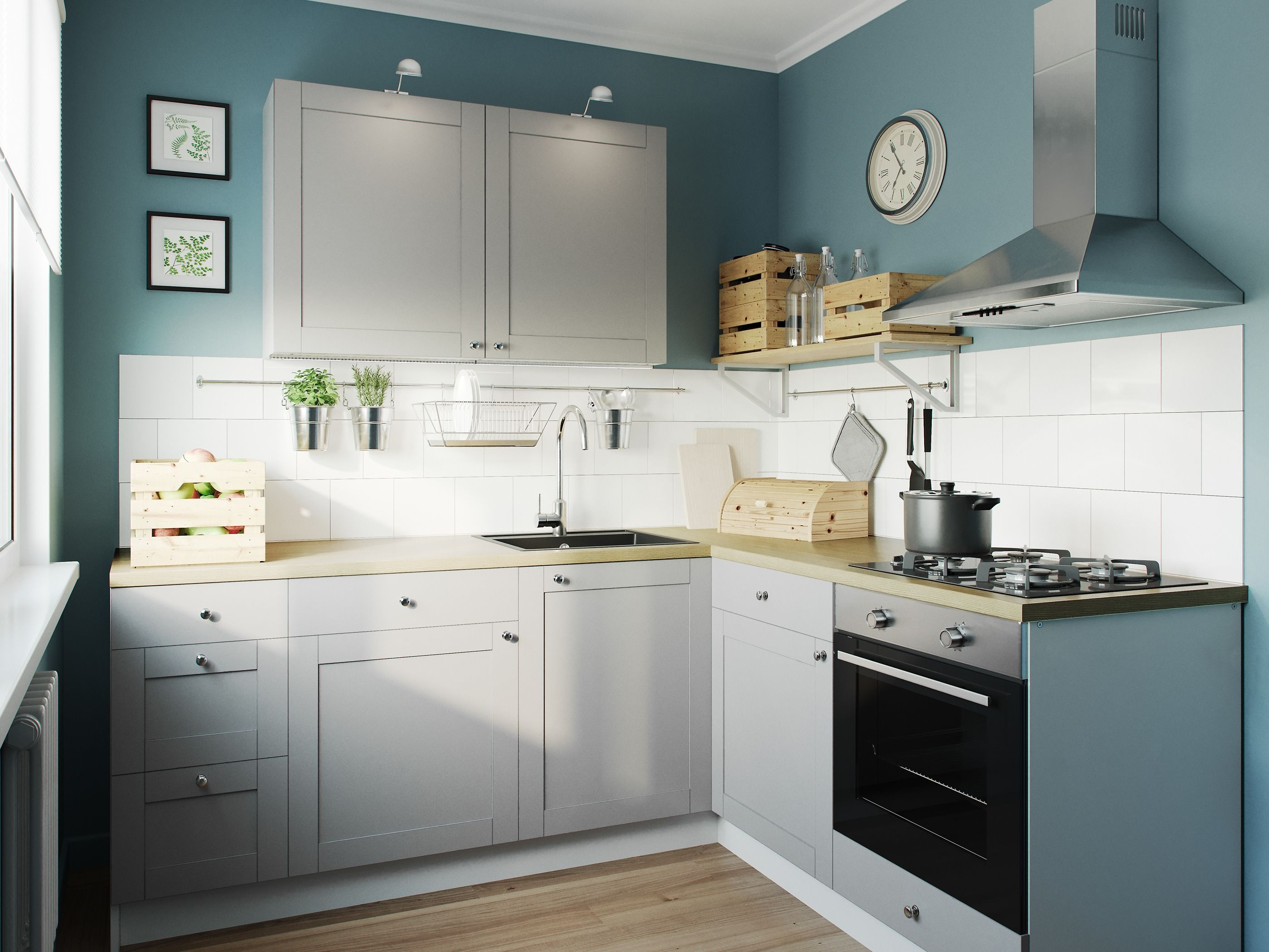 Visualization Of Kitchens For Ikea Catalogs On Behance Kitchen Design Small Kitchen Design Living Room And Kitchen Design