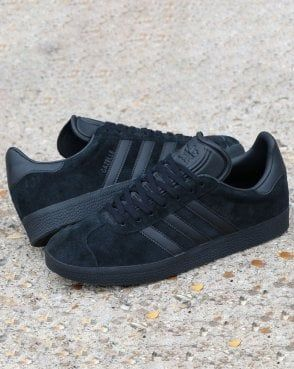 mens black adidas gazelle trainers