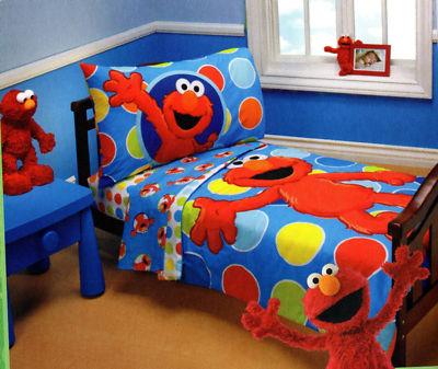 Elmo Sesame Street 4 Piece Toddler Bedding Toddler Bed Set Toddler Bed Boy Sesame Street Bedroom