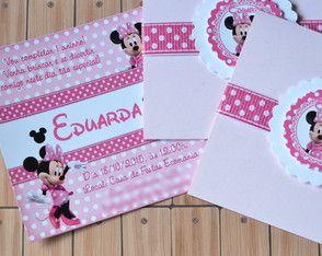 Convite Minnie - Com Capa+Selo
