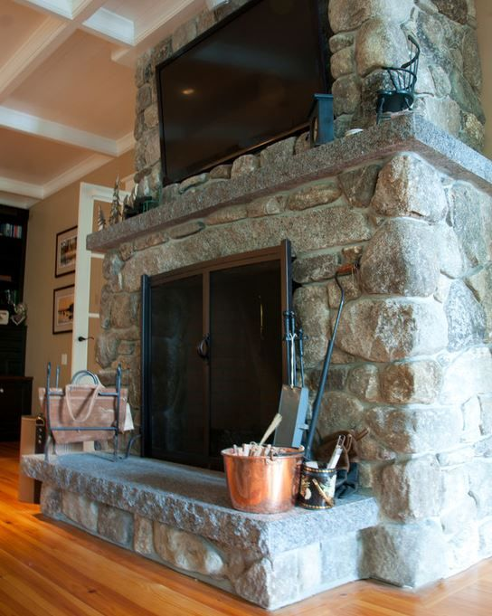 Large Fireplace Granite Hearth Natural Stone Fireplaces Indoor Fireplace