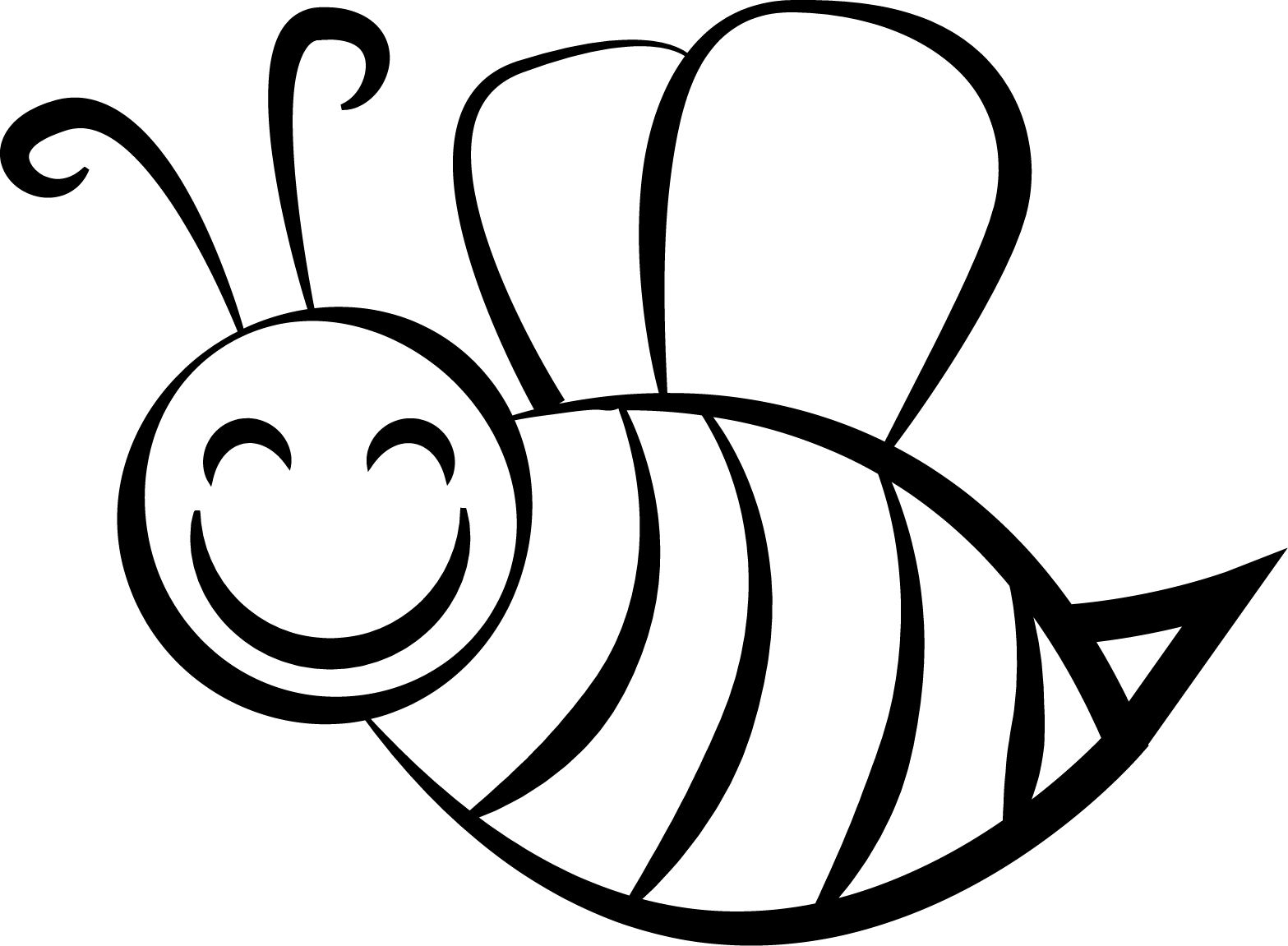 Bee Coloring Page   Pinterest   Bees