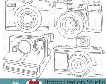 Vintage Campers Digital Clip Art Retro Camp by RhodaDesignStudio
