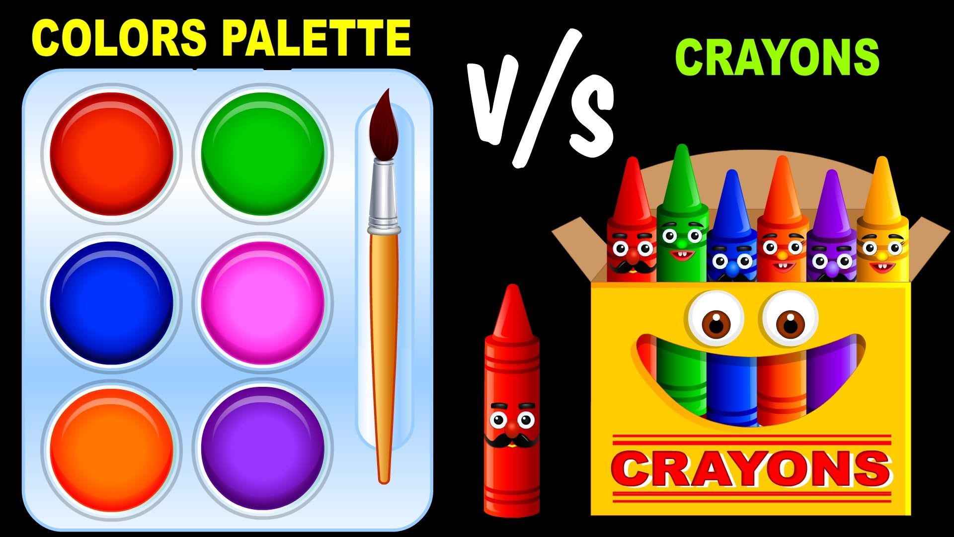 Kids Color Pallette Color Color Palette V S Color Crayons