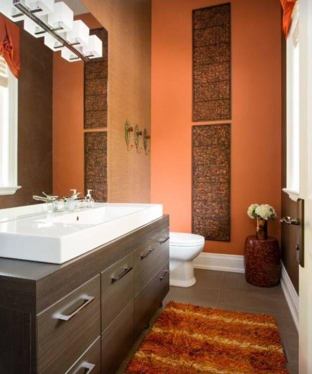 Bathroom Ideas Orange Small Bathroom Paint Orange Bathrooms Orange Bathroom Decor