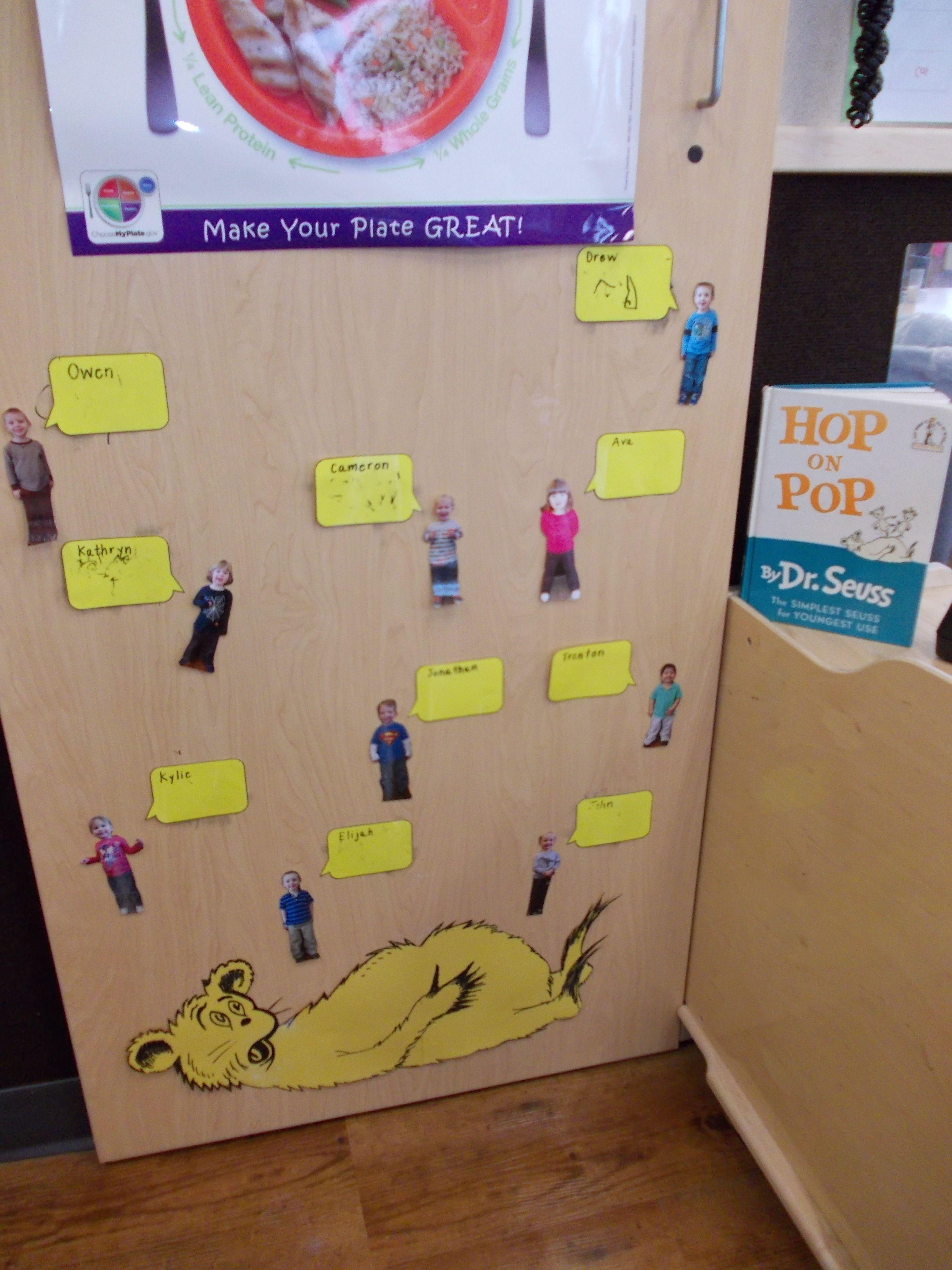 Dr Seuss Hop On Pop Check In Board For Preschool