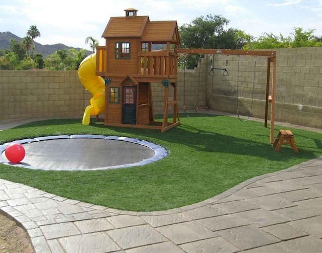 36 Exciting Small Backyard Playground Kids Design Ideas