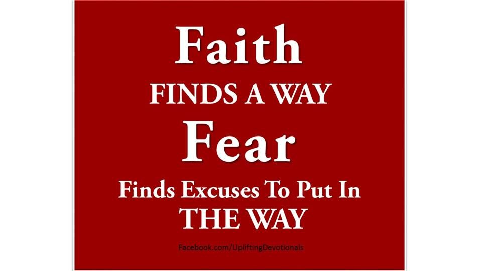 We build our faith and trust in God to help us to ride out the ...
