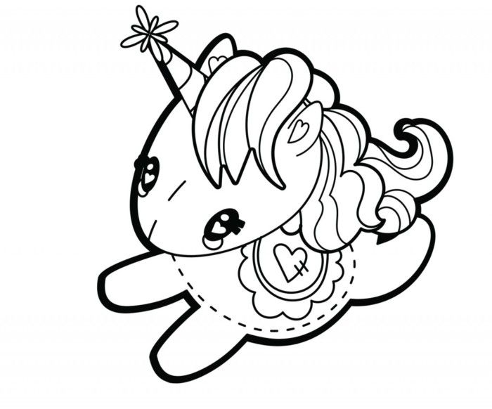 Cute My Little Unicorn 5 Different Coloring Pages To Print Con