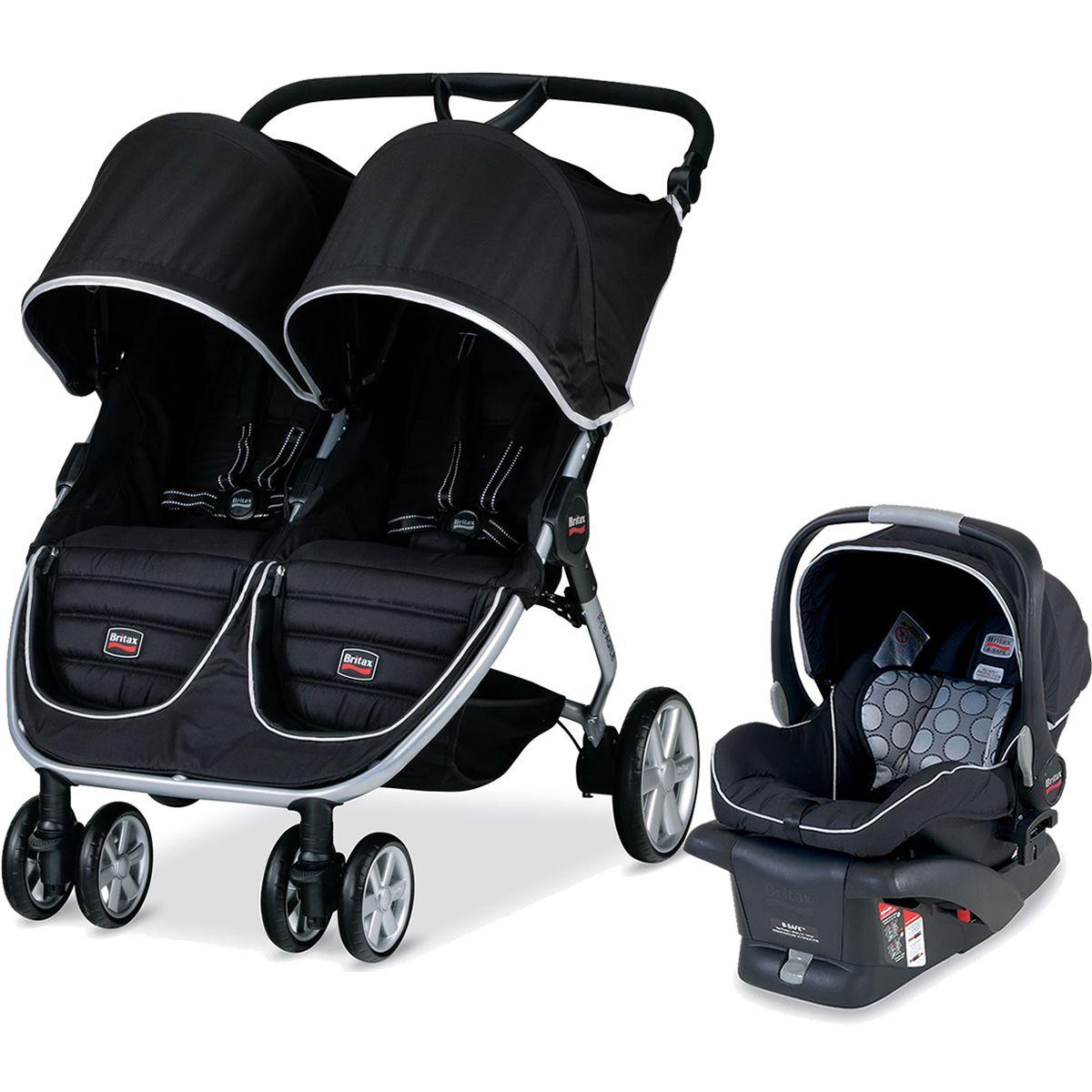Britax BAgile Double Stroller Travel System Black
