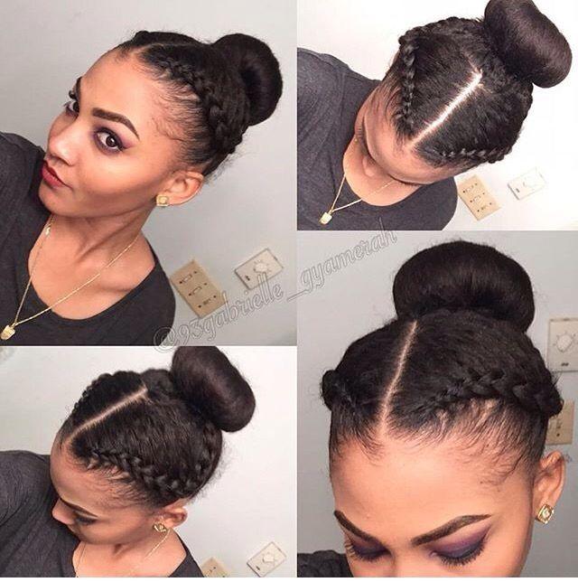 Protective Hairstyles For Short Relaxed Hair 101 Natural Hair Updos For Long Hair Short High Bun Hair Short Relaxed Hairstyles Natural Hair Styles Relaxed Hair