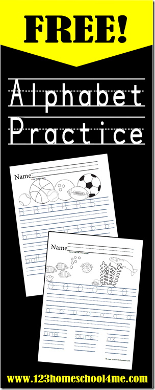 Free Alphabet Printables For Handwriting Practice