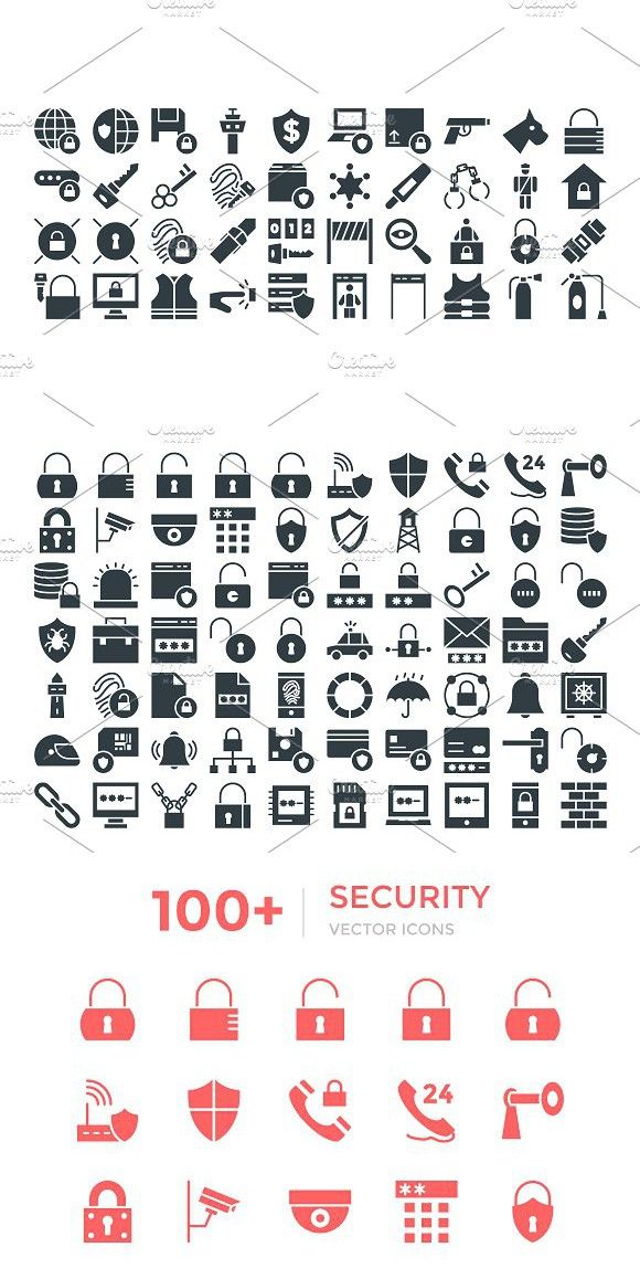 100+ Security Vector Icons Vector icons, Icon, Glyph icon
