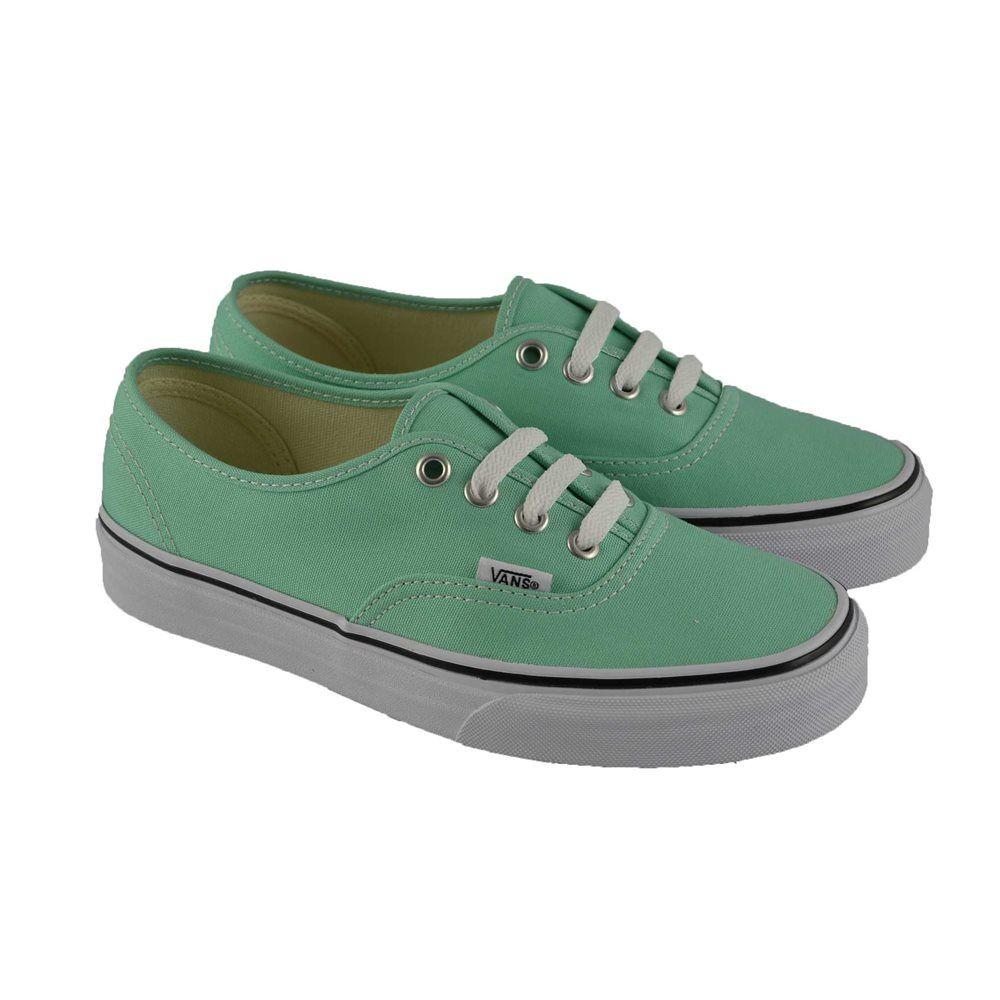 zapatillas vans mujer verdes tela