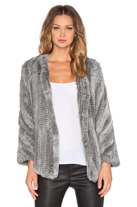 REVOLVEclothing | Outfit | Pinterest | Coats, Rabbit fur coat and Grey