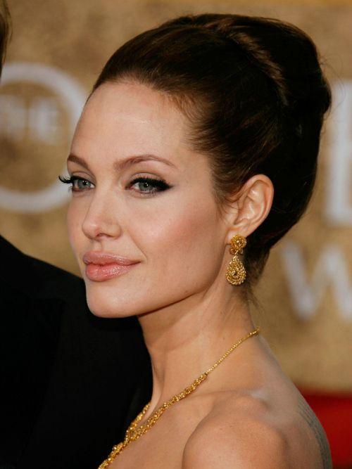 60 Trendiest Updos For Medium Length Hair Angelina Jolie Hair Updos For Medium Length Hair Hair Styles