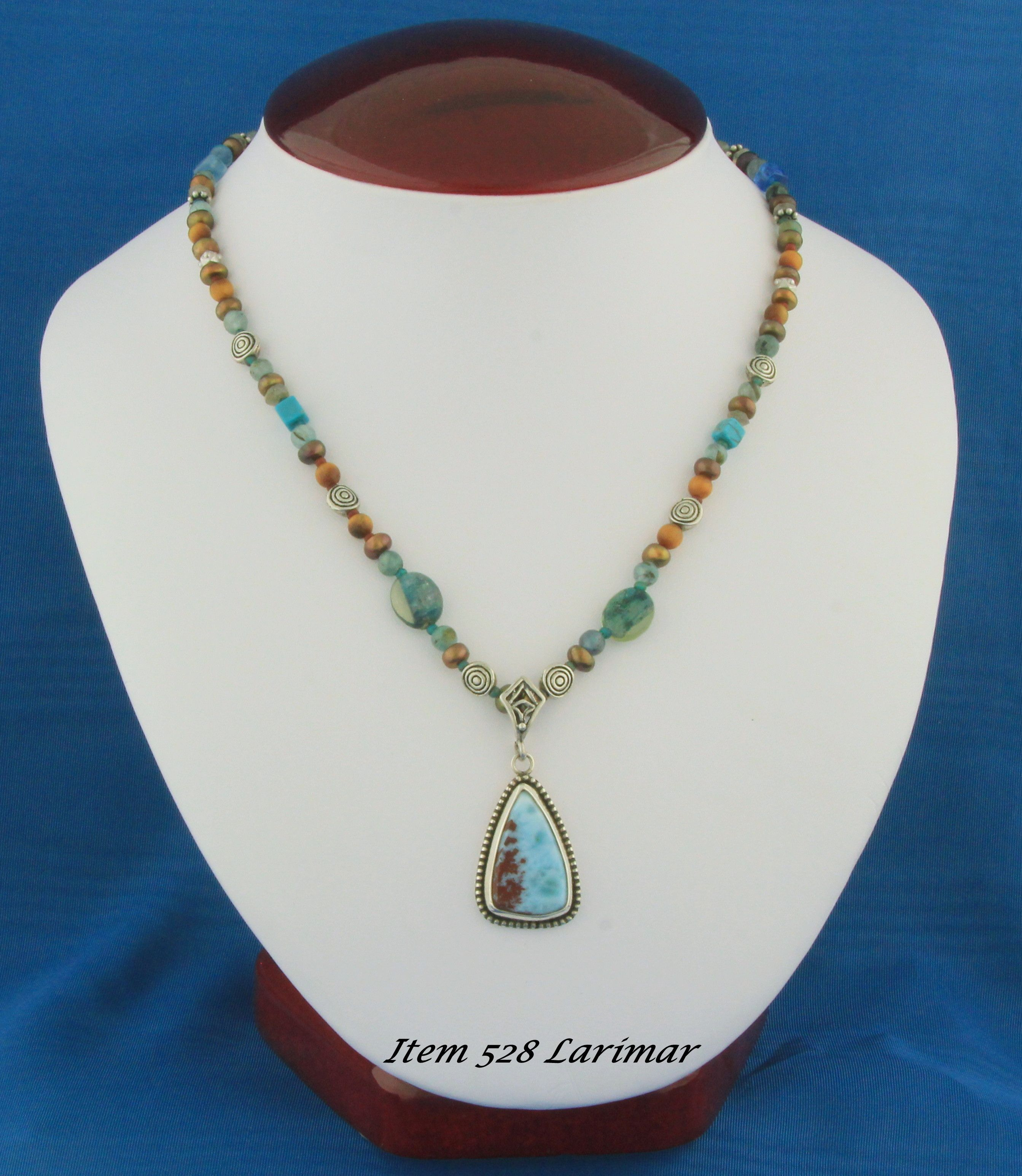 Larimar Pendent w/Designer Necklace by Heather Keasbey This Item was SOLD