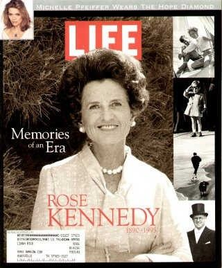 """Rose Kennedy Dies ~ Life Magazine, March 1, 1995 issue - Visit http://oldlifemagazines.com/the-1990s/1995/march-01-1995-life-magazine.html to purchase this issue of Life Magazine. Enter """"pinterest"""" at checkout for a 12% discount."""