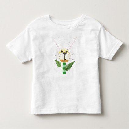Bunny Flower Toddler T-Shirt - toddler youngster infant child kid gift idea design diy