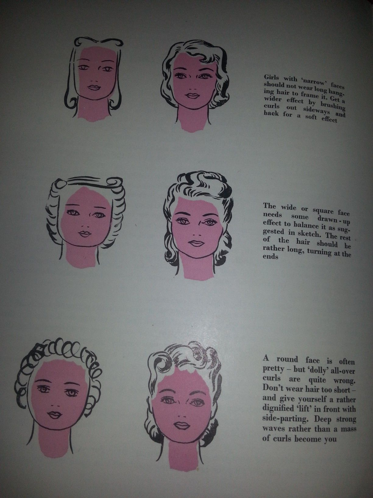 pin up hair styles - which style to suit your face shape. taken from