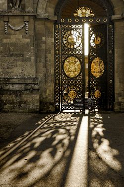 afineandprivateplace:    UK - Oxon - Blenheim Palace Gates By Darrell Godliman  Not so much the door.....just pay attention to the shadow art.