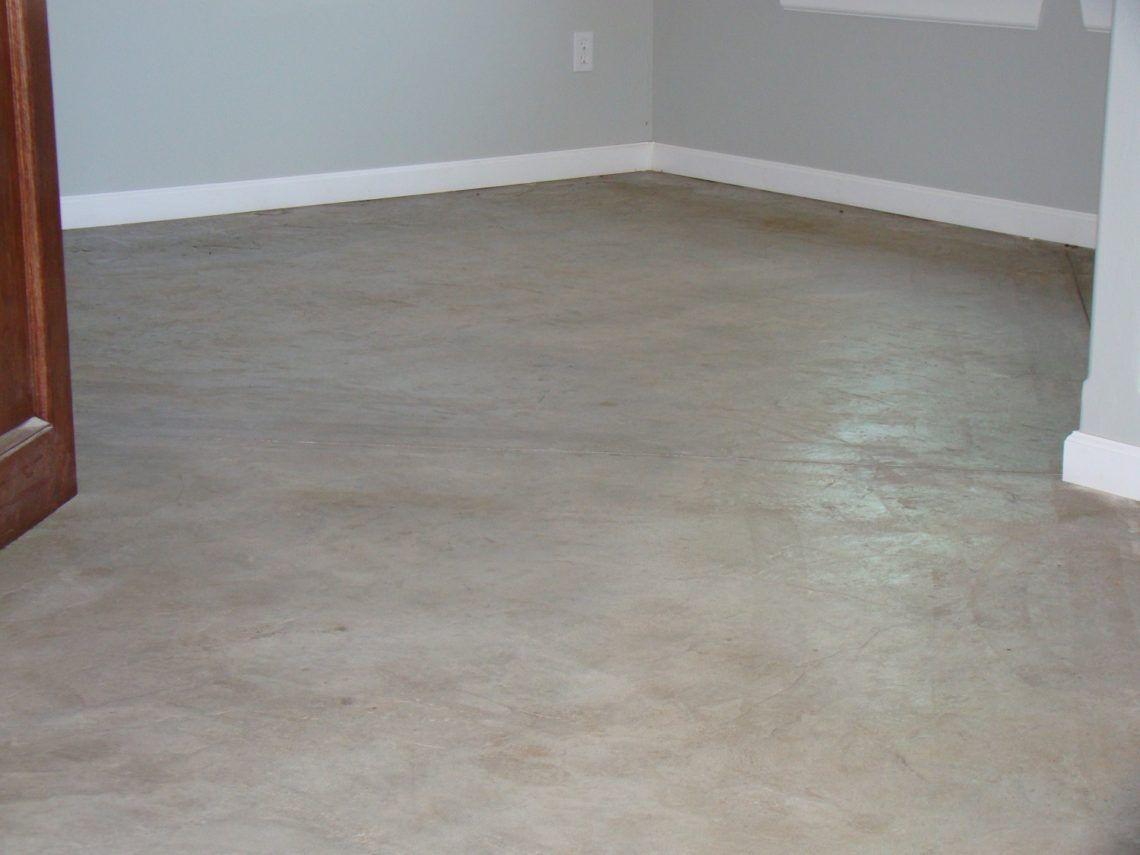 Stamped White Concrete Floor