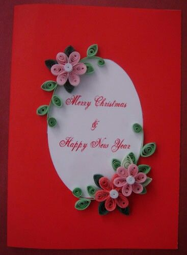 New Year Card With Images Quilling Christmas Hand Made